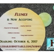 Flumes literary arts journal call for submissions