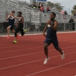 """Thomas Mehler runs the 200 and 100 meter sprints. He is also a member of the 4x100 meter relay team. Mehler says, """"I love working with Coach Montrell Williams. He knows his stuff and brings a lot to the table."""" Mehler won the 200 meter event for his heat on Saturday, February 27. Mehler, a two sport athlete, also plays soccer for Yuba College. """"This is my first time running. I'll gain more confidence and keep getting better."""" His time in the winning sprint was 23.4 seconds."""
