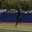 Ariyon Huff celebrates 49er touchdown