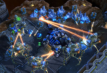 A screen shot of the game Starcraft II