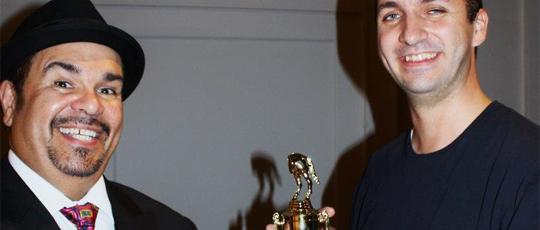 Angel Diaz and Caleb Mains, Mains won the golden jackass
