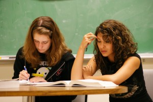 MESA students Katrina Catledge and Diana Collazo | Photo by: Robert Angus