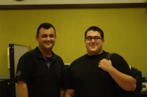 MCOMM-5 students Jose Macedo (19) and Adan Jimenez (20) | Photo By: Alexis Pack