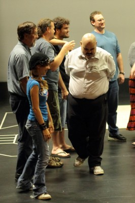 Some cast members rehearsing the play | Photo by Alexis Pack