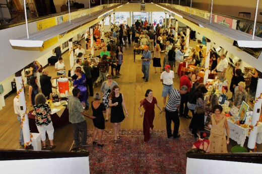 The crowd at Harvest the Arts, at Gallery 34 | Photo by Heather Meunier