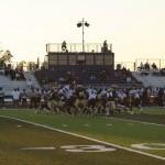Yuba College ground game runs off tackle | Photo by Bob Barton