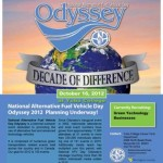National Alternative Fuel Vehicle Day Odyssey poster