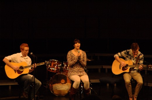 From left to right: Cole Martin, Rachael Fuentes, Eric Ringseth | Photo by Alexis Grissom-Pack