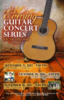 Officia event poster of the Evening Guitar Concert Series | Image provided by Teresa Aronson