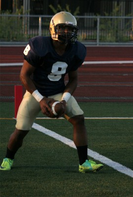 Slot reciever Jeremy Williams at pre-game | Photo by Chris Carpenter