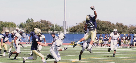David Wilson making a catch during a Yuba College game   Photo provided by David Wilson