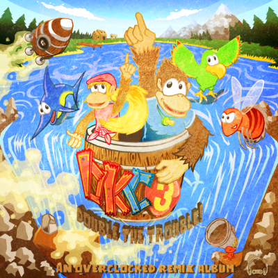 DKC3: Double the Trouble album cover | Illustrated by Adam Aubin