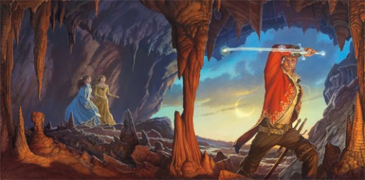 Official cover art for A Memory of Light | Illustrated by Michael Whelan