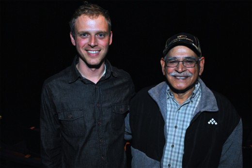 Filmmaker David Washburn along with Khalid Saeed, who donated land for the Mosque to be built on | Photo by Robert Weaver