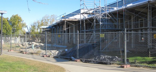 After many months of construction, the new library still isn't ready yet | Photo by TJ Hayes