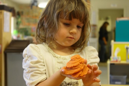 Puddy sculpting is part of the learning process for early children | Photo by Heather Meunier