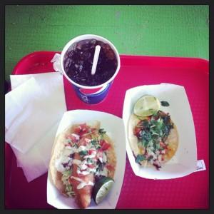 Mmmmmm! Fish tacos from Antonio's