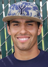 Dallas Cummings, second baseman for Yuba College