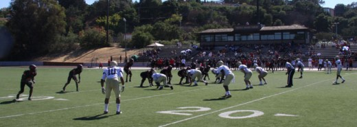 49er defense against Foothill College in los altos.