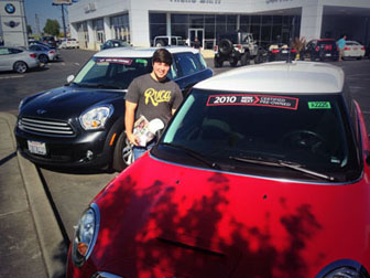 Hanging with some used MINIs at the dealership