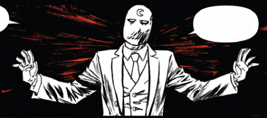 Marc Spector in his Moon Knight costume.