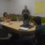 Kiara Koenig leads the Literary Arts Club meeting.