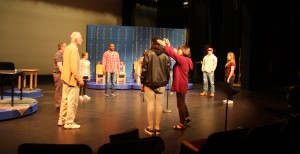 "Ueda musically directs the cast of ""The 25th Annual Putnam County Spelling Bee."""