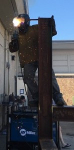 Above: Yuba College student Michael Lawson demonstrates a welding technique.