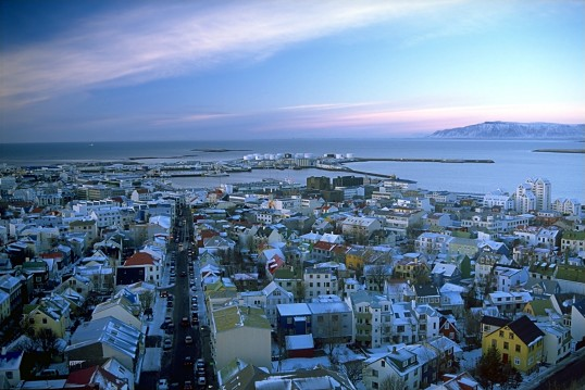 An aerial shot of Reykjavík, Iceland. (Photo courtesy of Andreas Tille)