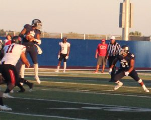 A handoff play by Yuba in the first half.