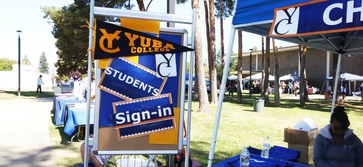 sign-in booth for students