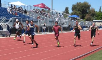 Micah and Jonathon on the track for the Yuba first and second one-two sprint punch